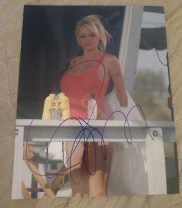 PAMELA-ANDERSON-SIGNED-8X10-PHOTO-SEXY-BAYWATCH-W-COA-PROOF-RARE-WOW