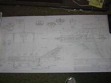 Avro CF-105 Arrow MK.1 - Avro Aircraft Areodynamic 3 Point View Blueprint