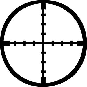 Crosshairs-Vinyl-Sticker-Decal-Military-Sniper-Hunt-StyleB-Choose-Size-amp-Color