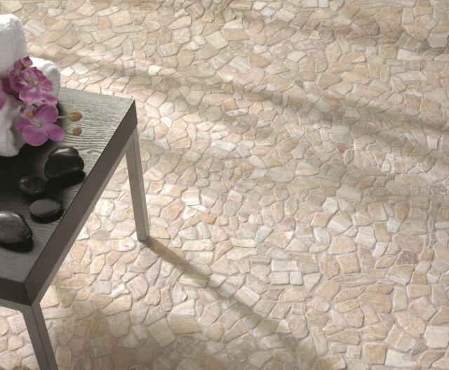 1 Matte Marmor Bruchmosaik Naturstein Wand Boden Fliese 30,5x30,5c ASIA GOLD 2.0
