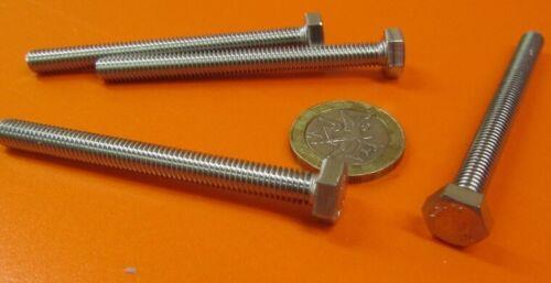 25 Pcs Metric FT M6 x 1 x 65 mm Length 18-8 Stainless Steel Bolt