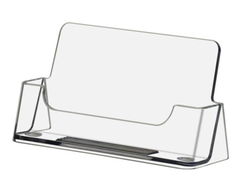 48 Clear Acrylic Business Card Holder Display Stand USA