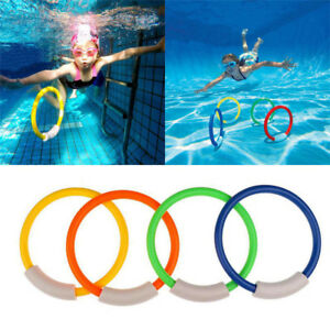 Details about Kids Underwater Swimming Pool Accessories Diving Rings  Childern Water Play Toys
