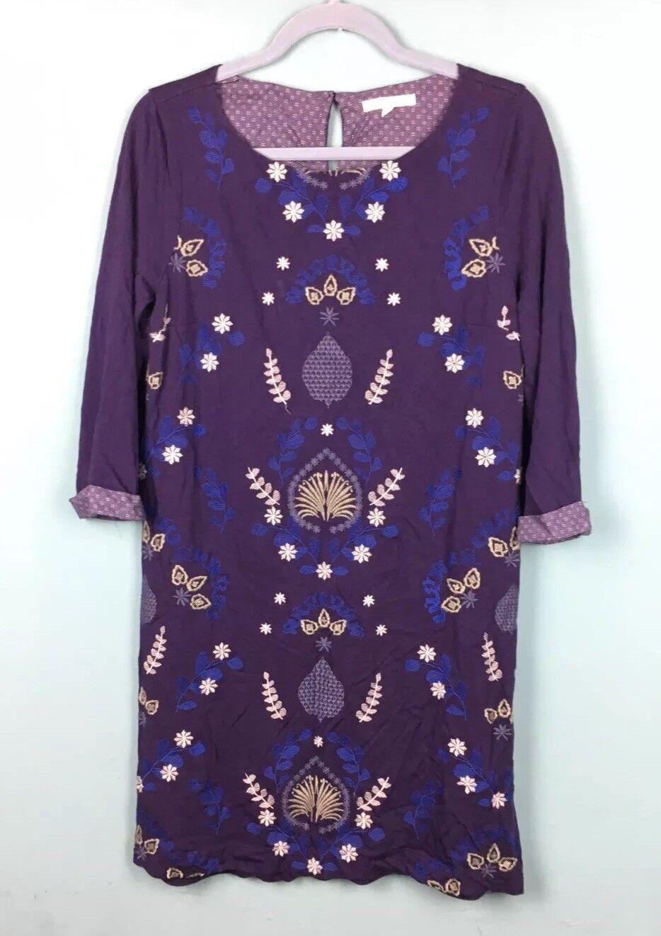 2326bfdc8df White Stuff Navy Embroidered Tunic Mini Dress Size 14 - B51 Purple Jersey  ntbjke11327-Dresses