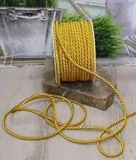 3m Kordel (0,40 €/m) doppeltgedreht gold matt Schleifenband Hochzeit CB-21
