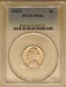 1949-S-Jefferson-PCGS-MS-66-GEM-mint-state-nickel