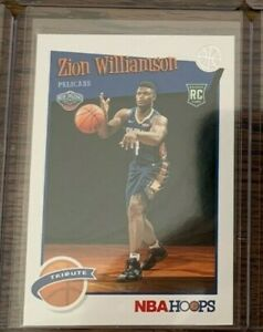 2019-20-Zion-WILLIAMSON-PANINI-NBA-HOOPS-TRIBUTE-ROOKIE-CARD-RC-296