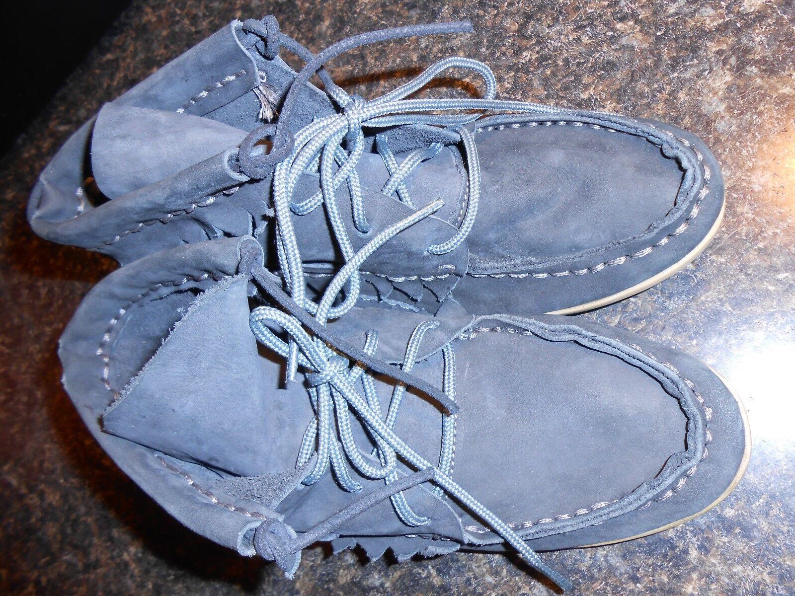 Oliberte dark Grau nubuck Leder Hirari moc boots display7M B NEU no box save
