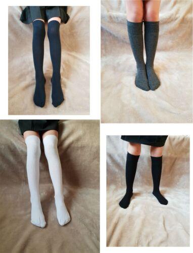 2or4 Pairs KNEE HIGH SOCKS GIRLS LONG SOCKS GIRLS SCHOOL KNEE LENGTH SOCKS