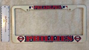 MLB-Philadelphia-Phillies-Baseball-License-Plate-Frame-White-Plastic-NEW