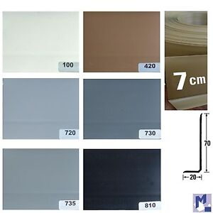 xl weich pvc sockelleiste knick profil kunststoff sockelleisten 7 cm hoch ebay. Black Bedroom Furniture Sets. Home Design Ideas