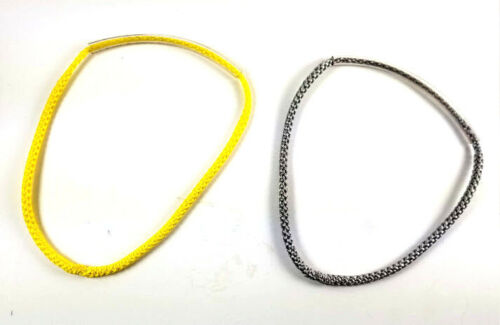 "environ 20.32 cm 8 in 8/"" continue permanente Boucle Hammock Suspension 7//64 AMSTEEL Argent Jaune"