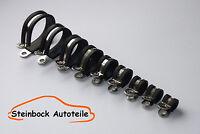 10er Pack Qualität Edelstahl oder Verzinkt Gummiert Rohrschelle Ø 5mm bis Ø 35mm
