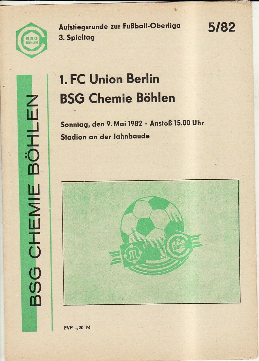 BSG Chemie Böhlen OL 82//83 BFC Dynamo Berlin