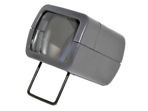 AP Slide Viewer with Light 3x Magnifcation Battery Operated Folding Foot Compact