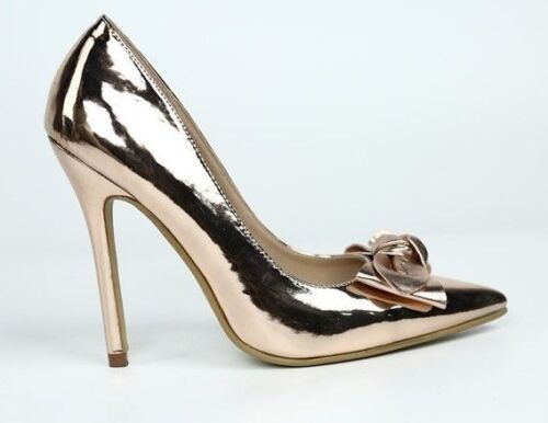 Brand New AB3 Boutique Bow Detail Pointed High Heel Stiletto Court Shoes