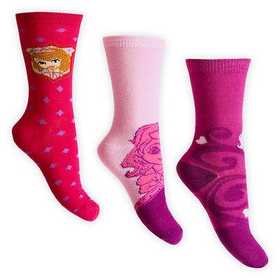 Disney Princess Official Childrens Girls Patterned Socks Pack Of 3