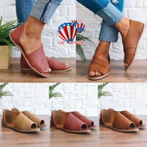 Women-Gladiator-Flat-Flip-Flops-Sandals-Slippers-Summer-Beach-Leather-Shoes-Size