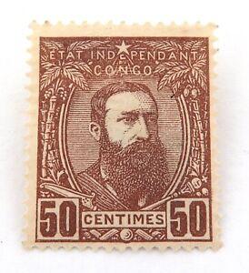 1887-BELGIUM-ETAT-INDEPENDANT-DU-CONGO-50-CENTIMES-MH-NICE-GRADE