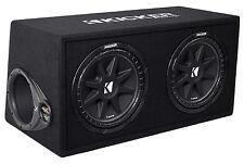 "KICKER 43DC122 Comp Dual 12"" Subwoofers In Vented Sub Box Enclosure, 2-Ohm"