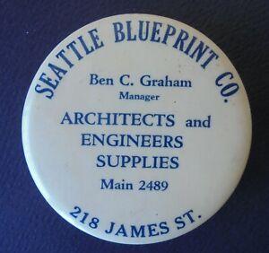 SEATTLE ( WA. ) BLUEPRINT CO.  ADVERTISING MIRROR  MAIN 2489