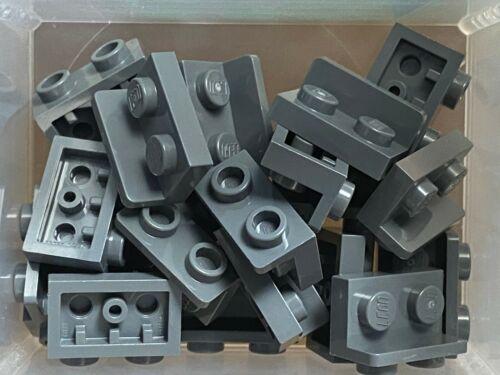 No 99780 QTY 20 LEGO Parts Dark Bluish Gray Bracket 1 x 2 1 x 2 Inverted