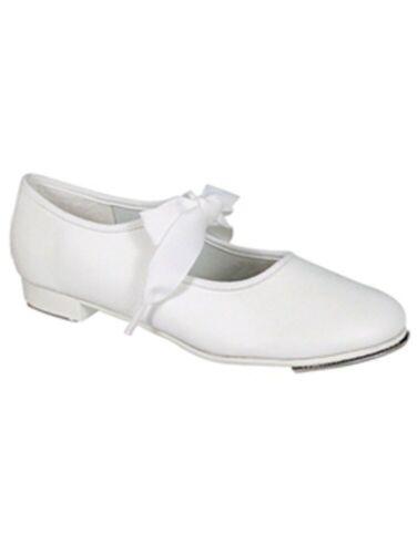 Dance Class Girls White Ribbon Tie Tap Shoes 6 Toddler 12 Kids