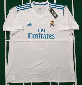 6ead25b8cf2d7 ADIDAS REAL MADRID JERSEY MAILLOT LOCAL HOME 2017 2018 SHORT SLEEVE ...