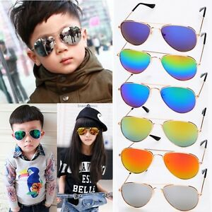 7a5da036b31 New Fashion Kids Baby Boys Girls Retro Anti-UV Sunglasses Unisex ...