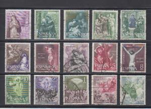 ESPANA-1962-SERIE-COMPLETA-USADA-EDIFIL-1463-77-VIRGEN-SANTO-ROSARIO