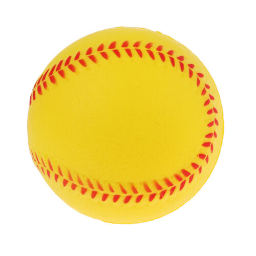 4x Sicherheit Baseball Training PU Softball Ball Sport Team Spiel Gelb
