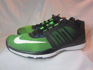 9c44119a57d Mens Nike Zoom Speed TR3 804401-310 Black Green Sneaker Shoe 9 M
