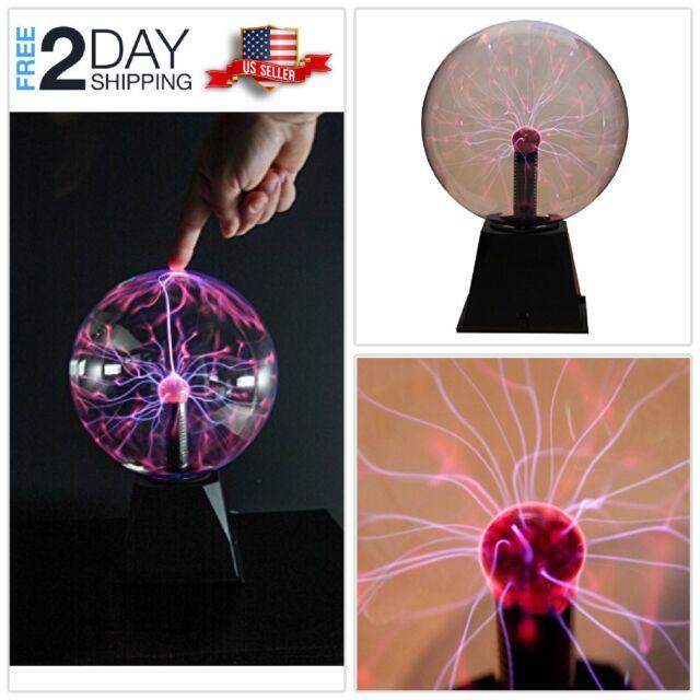 "12/"" Large Plasma Globe Nebula Ball Light Show Glass Sphere Energy Touch Lamp"