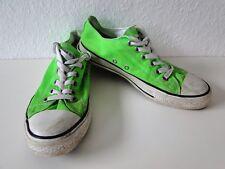 Converse All Star Chucks Sneaker Turnschuhe Slim Low Stoff neon Grün Gr. 6 / 40