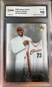 Iconic-2003-Upper-Deck-LeBron-James-Rookie-Card-9-Box-Set-Gem-Mint-10-Invest