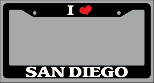 "Black License Plate Frame /""I Heart San Diego/"" Auto Accessory Novelty 2635"
