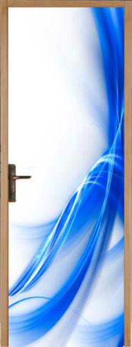 Sticker pour porte plane Designe Bleu 73x204cm