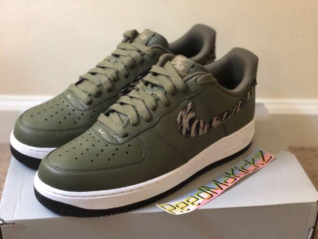 Nike Air Force 1 AOP Premium Tiger camo olive Mens sizes