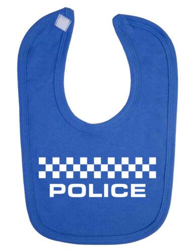 B-Shirts New Born Baby Clothes Police Baby Bib Christening Funny Baby Bib