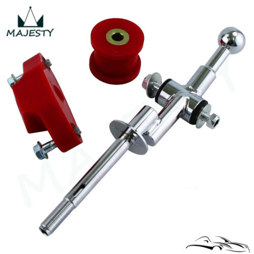 6 Speed Steel Short Shifter and Bushing Combo For Subaru WRX STI 2004-2017 Red