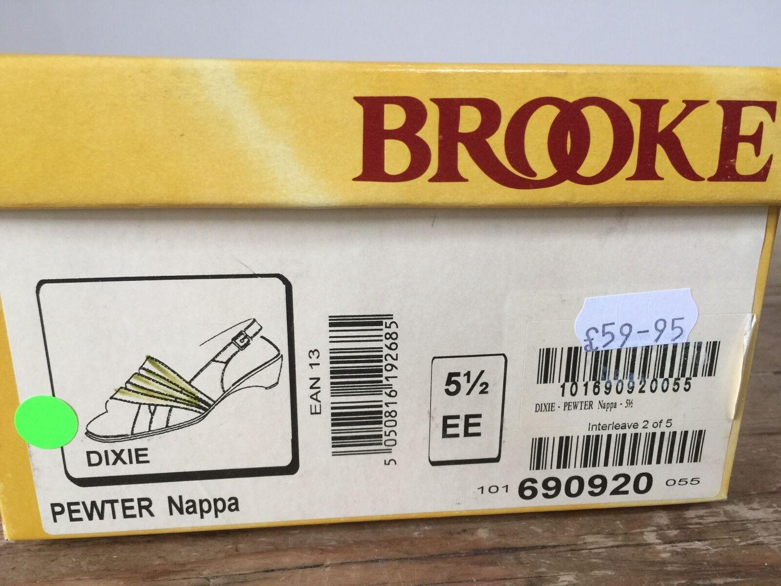 Nueva con caja 'Brooke' Estaño Cuero 1  Dixie  Estilo Cuero Sandalias-UK 5 1 Cuero 2 180c9d