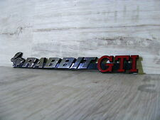 original Emblem Schriftzug Heckemblem VW Golf 1 rabbit GTI mk1 Pirelli USA NEU