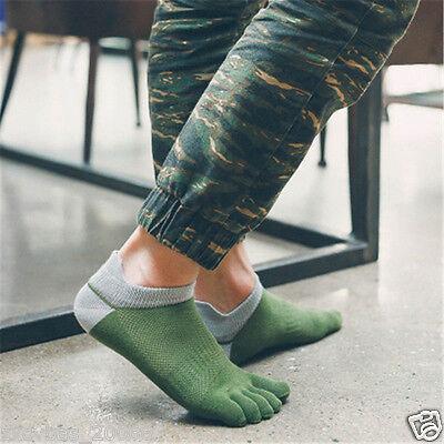 5 pairs new men's socks pure cotton sports five finger socks toe socks