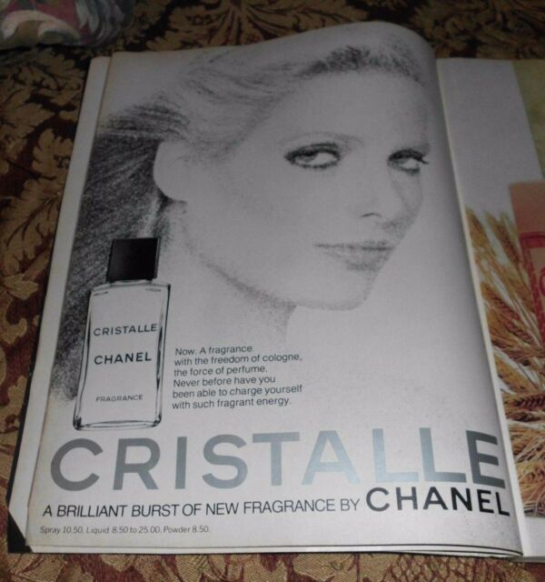 1977 Near Mint Print Ad Poster Cristalle Fragrance by ...