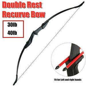 "40lb Bogenschießen 57 /""Takedown Recurve Bow Kit Erwachsenenpraxis Anfänger"