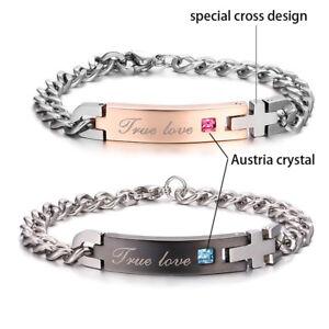 68f0013ca Image is loading Personalized-Name-Couple-Bracelets-Custom-Engraved-Couple- Jewelry-