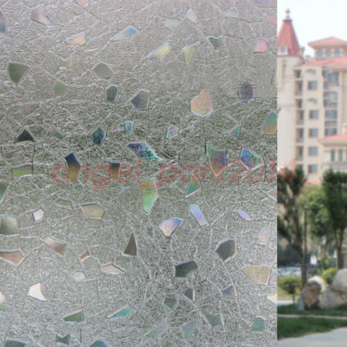 Small Gravel Static Cling Cover Home Decoration Window Door Privacy Glass Film