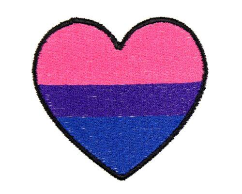 LGBT Pride Patch LGBTQA+ Bisexual Pride Heart Patch Bi Pride Heart Patch