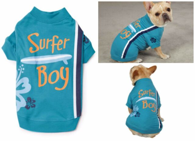 Casual Canine Surf's Up Tee Surfer Boy XS Turquoise