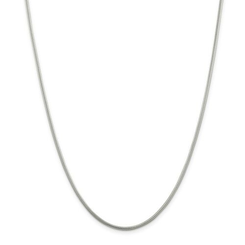 """24/"""" Details about  /Sterling Silver Solid 1.6mm Round Snake Chain w// Lobster Clasp 16/"""""""